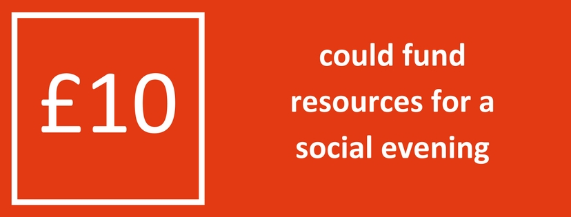 10 pounds could fund resources for a social evening